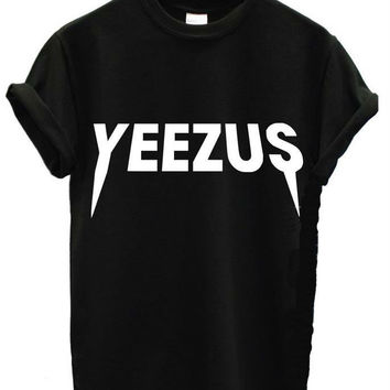 YEEZUS Letters Print Women T shirt Casual Cotton Harajuku For Funny Top Tee