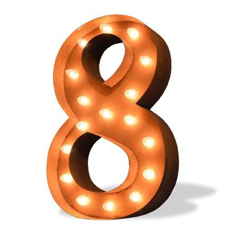 "36"" Number 8 (Eight) Sign Vintage Marquee Lights"