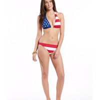 Polo Ralph Lauren Flag Capsule Halter Top & Hipster Bottom | Dillards