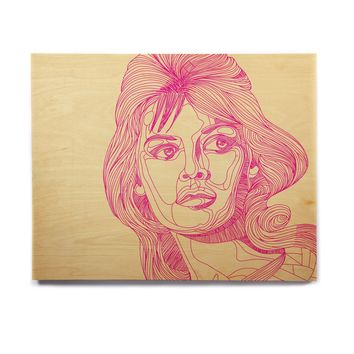 "Roberlan ""Bardot"" Pink Girl Birchwood Wall Art"