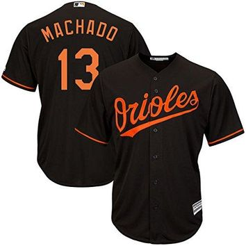 Manny Machado Baltimore Orioles #13 Men's Big and Tall Alternate Jersey Black