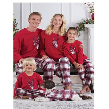 Christmas Matching Pajamas Holiday Red Plaid Sleepwear