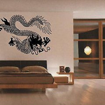 Japanese Dragon Asian Decor Bedroom Living Room Wall Art Sticker Decal D-69