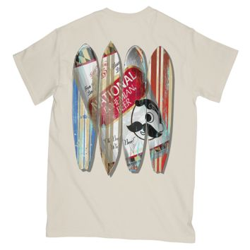 *PRE-ORDER* Natty Boh Can Surfboards (Ivory) / Shirt (Ship Date: 5/25)