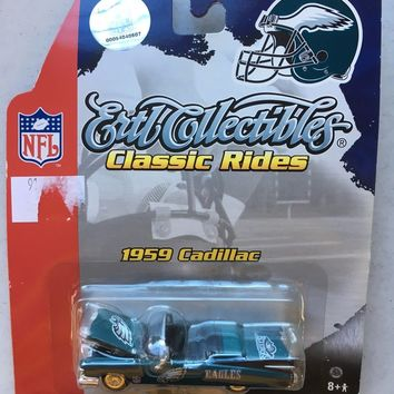 BRAND NEW PHILADELPHIA EAGLES 1959 CADILLAC COLLECTIBLE CAR SHIPPING