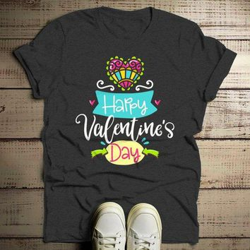 Men's Happy Valentine's Day T Shirt Cute Valentine Shirt Graphic Tee Valentines Shirts