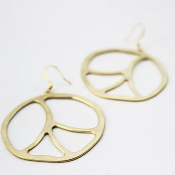 The Paige Funky Peace Earring // Gold Finish // Blackbird Jewelry Collection {E004-G}