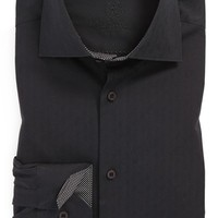Men's Bugatchi Trim Fit Solid Dress Shirt