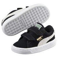 Suede 2 Strap Kids' Sneakers | black-white | PUMA Shoes | PUMA United States