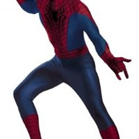 Disguise Men's Marvel The Amazing Movie 2 Spider-Man Bodysuit Costume, Blue/Red/Black, X-Large/42-46