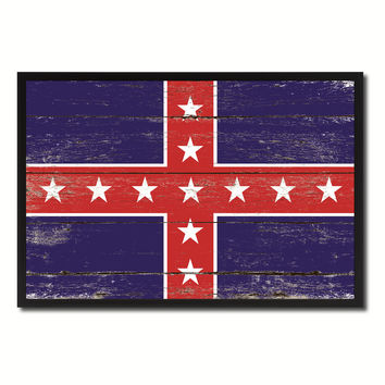 Army of Tennessee Military Flag Vintage Canvas Print with Picture Frame Home Decor Man Cave Wall Art Collectible Decoration Artwork Gifts