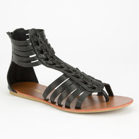Diva Lounge Clover Womens Sandals Black  In Sizes