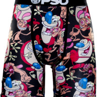 PSD Ren & Stimpy Boxer Briefs In Black