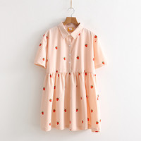 Free Shipping Cute Sweet Pink Strawberry dress