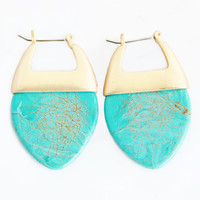 Turquoise Jasmine Flame Earrings