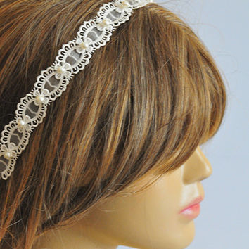 Wedding Headband, Lace headband, bridal hairband, wedding accessory, hair accessories, wedding hair accessories, weddings, vintage style