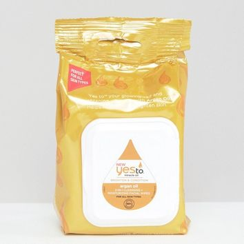 Yes To Argan Oil Wipes x 30 at asos.com