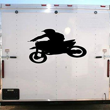 Motorcycle Racing Trailer Decal Vinyl Sticker Auto Decor Graphic Kit Aftermarket Stickers moto01
