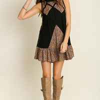 Umgee USA Black Lace Floral Dress