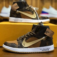 Air Jordan 1 Retro x Louis Vuitton LV x Off-White Sneakers - Best Deal Online