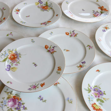 Thomas Bavaria Porcelain -- Lakewood -- Set of 9 Dinner Plates