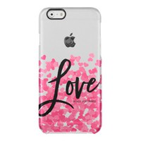 Pink Confetti Hearts Love - Valentine's Day Uncommon Clearly™ Deflector iPhone 6 Case