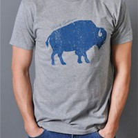 Rowdy Gentleman American Buffalo Vintage T-Shirt for Men BUFFALOTEE