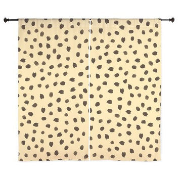 Chiffon Curtains - Animal Print Curtains - Cheetah Print - Sheer Curtains - Bedroom Curtains - Girls Curtains - Teen Curtains - Sheer