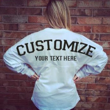 Spirit Jerseys made for you!  You choose the color and text!