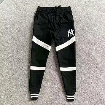 NY Fashion New Letter Print Women Men Sports Leisure Pants Black