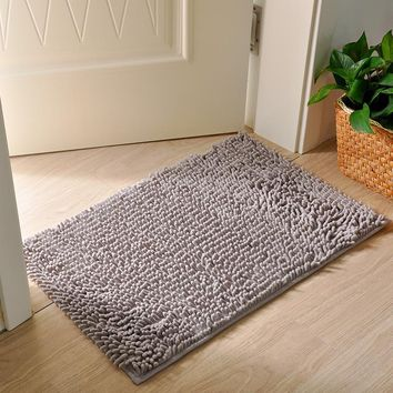 Autumn Fall welcome door mat doormat 40x60cm/50x80cm Bedroom Floor Mat Superfine Carpet Rugs Chenille  Non Slip Bathroom Carpet Grey  AT_76_7