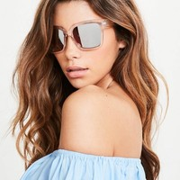 Missguided - Rose Gold Clear Frame Sunglasses