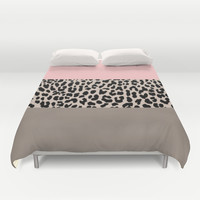 Leopard National Flag XVI Duvet Cover by M Studio
