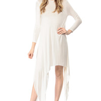 White Asymmetrical Zosia Dress
