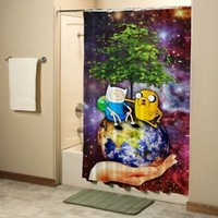 Adventure Time BMO Jake and Finn Shower Curtain High Quality Bathroom 60x72 Inch
