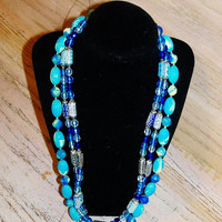 Vintage Necklaces Restyled Wedding Jewelry Jewellery Ocean Blues Greens Beach Resort Wedding Gift for Her