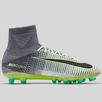 AUGUAU Nike Mercurial Superfly V AG-PRO Pure Platinum Black Ghost Green