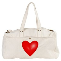 LOVE HEART VALENTINES DAY DUFFEL BAG