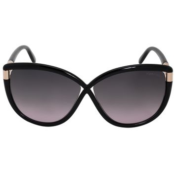 Tom Ford Abbey Square Sunglasses FT0327 01B 63