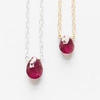 Solitaire Valentines Day Special - Tiny Garnet Drop