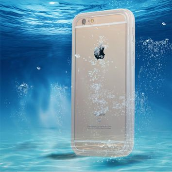 SE i6 i6s Waterproof Swim Diving Case For iphone 5 5s SE 6 6S 6 Plus Clear Protective Front & Back TPU Cover Accessories
