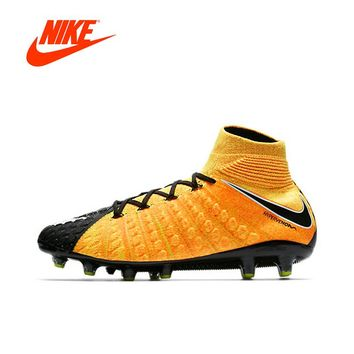 Original NIKE HYPERVENOM PHANTOM AG 3 Men's Light Comfortable Soccer Shoes Football Sneakers