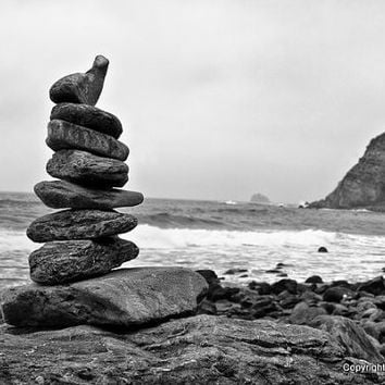 California Photos- Rock Tower Big Sur in California   8x10 Fine Art Print, beach, Home Decor, Wall Art, Edgy