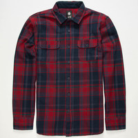 Element Crowly Mens Flannel Shirt Red  In Sizes