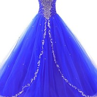 JAEDEN Women's Sweetheart Long Quinceanera Dresses Formal Prom Dresses Ball Gown