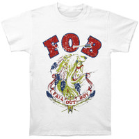 Fall Out Boy Men's  Native Wolf T-shirt White
