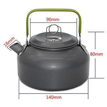 1 Pc 1.2l Aluminum Tea Kettle Cookware Set Camping Pot Teapot Use For Outdoor Camping Cooking Tools Veo69 T50
