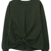 Olive Long Sleeve Fall Style Sweatshirt