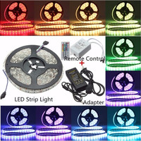 5M Waterproof 5050SMD RGB 300 Led Colorful Flexible Light Strip Lamp Xmas Christmas Party+ 44 Key + 12V 5A Power Supply