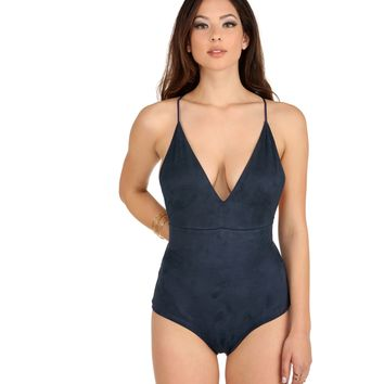 Blue Wicked Games Bodysuit